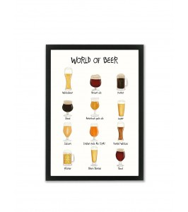 World of Beer A3 plakat fra Mouse and Pen