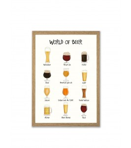 World of Beer A4 plakat fra Mouse & Pen