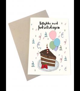 Mouse and Pen fødselsdagskort med kuvert | Tillykke med fødselsdagen