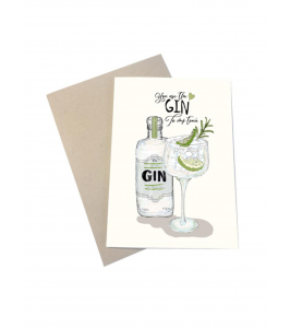 Mouse and Pen kort med kuvert | You are My Gin