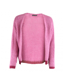 strik cardigan pink black colour