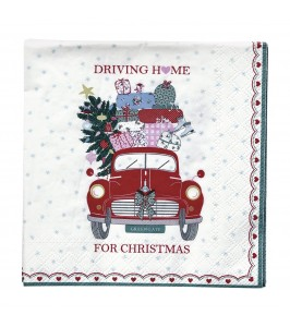 GreenGate Christmas car red papirserviet fra Winter 2019