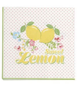 GreenGate Limona white papirsserviet