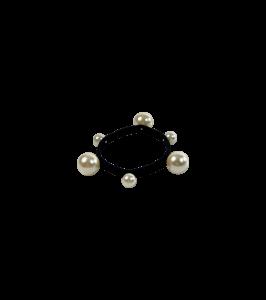 Black colour perle hårelastik