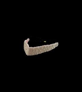 Black colour perle hårbånd