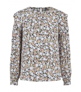 blomstret bluse pieces