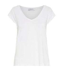 hvid t-shirt med v-hals pieces