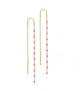 kære ørering m. pink perler pure by nat
