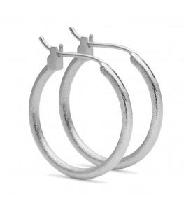 sølv creol ørering 20 mm pure by nat