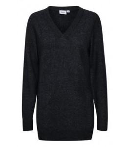 mørkeblå strik pullover saint tropez