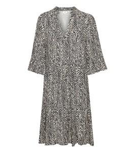 kort kjole zebraprint saint tropez