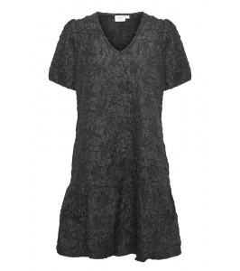kort sort brokade kjole saint tropez