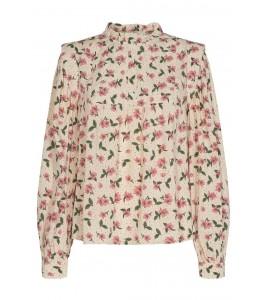 bluse off white med blomsterprint sofie schnoor