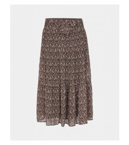 lang nederdel med print sort sofie schnoor