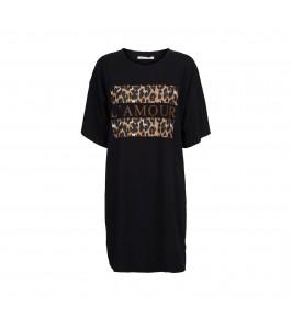 lang t-shirt kjole sort sofie schnoor