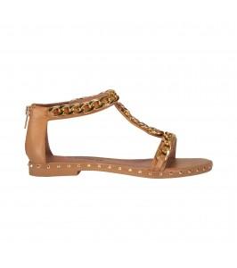 flad sandal camel sofie schnoor