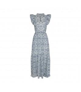 lang kjole blå og hvid sofie schnoor