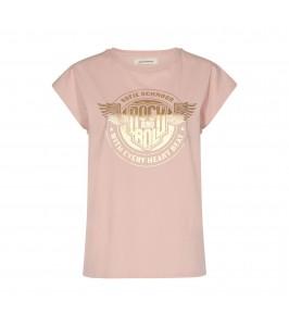 dame t-shirt rosa med print sofie schnoor