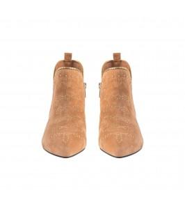 Kort ruskindsstøvle brun sofie schnoor