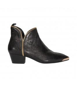 kort støvler i sort skind sofie schnoor
