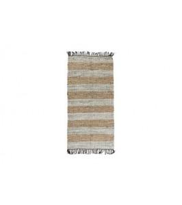 Stribet Speedtsberg tæppe af læder 131589
