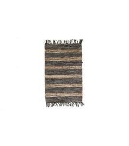 Stribet Speedtsberg tæppe af læder 131581