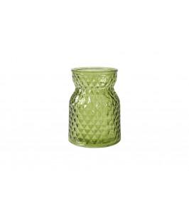 fyrfadsstage i grøn glas speedtsberg