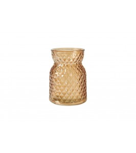 glas lysestage vase brun speedtsberg