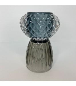 fyrfadstage vendbar blå grå speedstberg