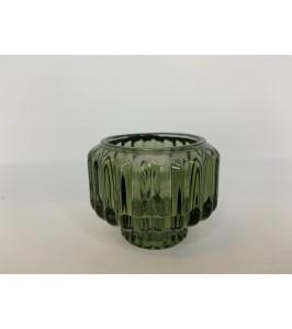 lille glas lysestage grøn speedtsberg