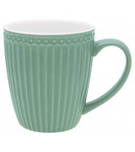 GreenGate Alice dusty green krus med hank