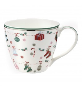 GreenGate Jingle bell white Krus med julemotiv