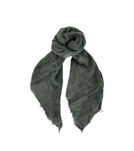ensfarvet tørklæde mørkegrøn black colour