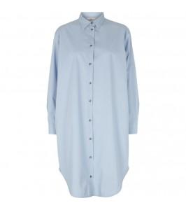 skjorte kjole cashmere blue basic apparel