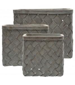 GreeGate Basket dusty green fletkurv