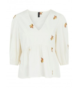 bluse off white yas