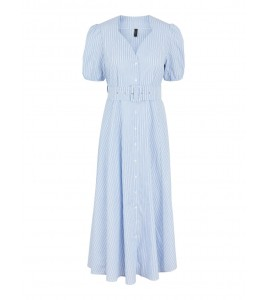 stribet kjole blå hvid yas