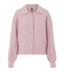 strik cardigan pink yas