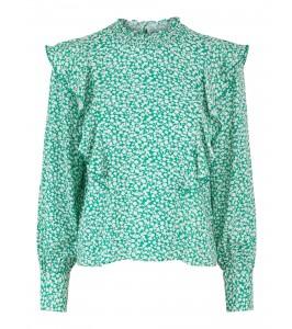 bluse grøn hvid yas