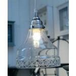 Hængelampe m/ Slebet glaskant-01