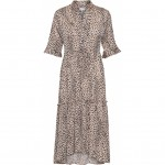 lang kjole i leoprint continue