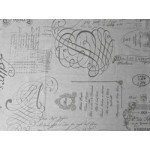 Chic Antique Voksdug M/ Fransk Print B 140 cm.-01