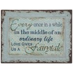 "Chic Antique Metal Skilt "" Fairytale"" 33x43-01"