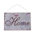 "Chic Antique Metal Skilt "" Home "" 21x15-01"