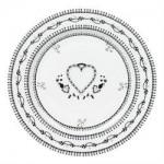 Tallerken Heart White 16,5-01