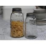 Chic Antique Gammel fransk opbevaringsglas med låg-01