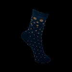 Black Colour Sock lurex dotted navy/camel