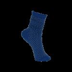Black Colour Sock lurex dotted blue