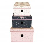 GreenGate Storage box sæt á 3 Marley pale pink-01
