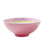 Rice melamin skål lyserød m/ fugleprint-01